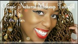 getlinkyoutube.com-Natural Classic Winged Liner & Red Lip Tutorial ft. black|Up Cosmetics
