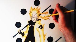 getlinkyoutube.com-Cómo dibujar a Naruto en Modo Sabio de los 6 caminos | How to Draw Naruto Six Paths | ArteMaster