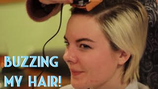 getlinkyoutube.com-Buzzing my hair!
