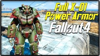 "Fallout 4 - FULL ""X-01 POWER ARMOR"" SUIT LOCATION! Rare Power Armor Guide! (FO4)"