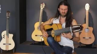 getlinkyoutube.com-Estas Tonne plays his new guitar at MR factory