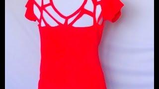 getlinkyoutube.com-DiY - 3 idéias de cortes de blusas... (cropped, calça em blusa, etc)