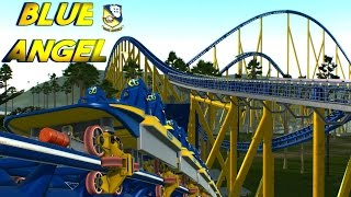 getlinkyoutube.com-No Limits 2- Blue Angel [Official] World's Fastest Intamin Launch