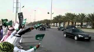 getlinkyoutube.com-Saudi Arabian king's MASSIVE motorcade