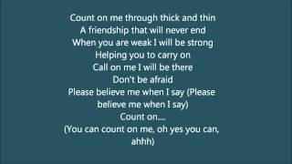 count on me whitney houston cece winans karaoke instrumental with lyrics width=