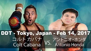 getlinkyoutube.com- FREE MATCH  Colt Cabana v. Antonio Honda   DDT - Tokyo, Japan - 2.14.17