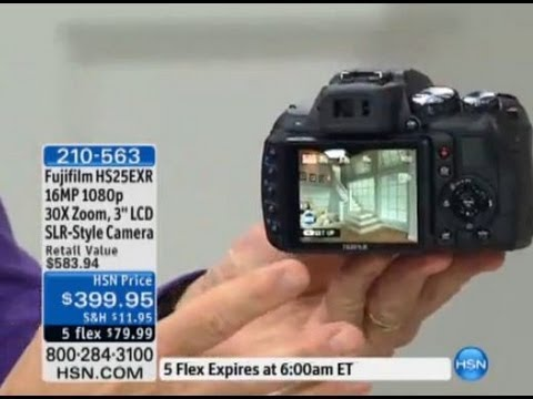 Fujifilm FinePix HS25EXR 16MP, 1080p 30X Optical Zoom Di...