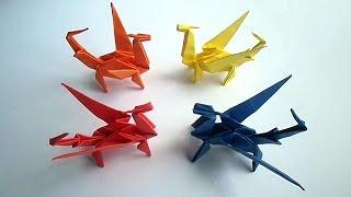 getlinkyoutube.com-оригами дракон, как сделать из бумаги оригами дракон // origami dragon