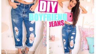 getlinkyoutube.com-Renueva tu Ropa ♡ DIY Boyfriend Jeans  | A Little Too Often
