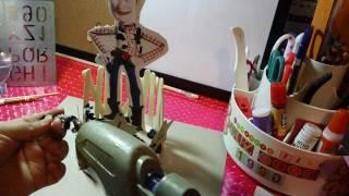 getlinkyoutube.com-centro de mesa de WOODY(toy story) para fiestas infantiles