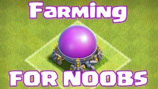getlinkyoutube.com-Clash of clans FARMING FOR NOOBS (Godson learns to farm)