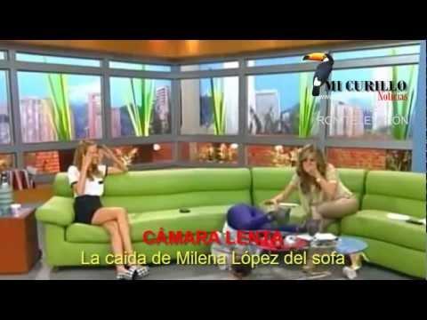 LA APARATOSA CAÍDA DE MILENA LÓPEZ PRESENTADORA DE MUY BUENOS DÍAS  ™ (wwwmicurillocom)