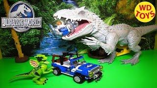 getlinkyoutube.com-Lego  Dilophosaurus Ambush Vs Indominus Rex 2015 Jurassic World  75916 Unboxing, Review By WD Toys
