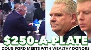 Doug Ford Illegally Attended $250-A-Plate Private Fundraiser