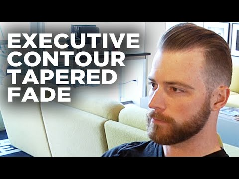 How To Cut A Perfect Tapered Executive Temple Fade Hairstyle | Style Progress