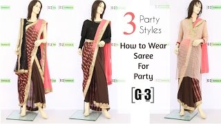 getlinkyoutube.com-How to Wear a Saree for Party in 3 Different Styles   G3fashion
