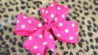 getlinkyoutube.com-How To Make A Pinwheel Hair Bow