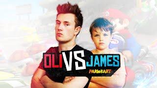 getlinkyoutube.com-IM DRIVING A TEDDY BEAR! - Mario Karts 8 | Oli VS James