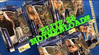 wwe action insider: elite 28 at target! cena, wyatt, triple h, mattel wrestling figures aisle!