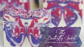 getlinkyoutube.com-The Butterfly Swirl Cold Process Soap, Handmade in Florida