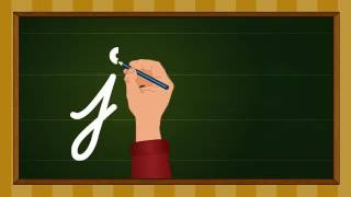getlinkyoutube.com-Cursive writing a to z - Kindergarten learning videos