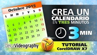 getlinkyoutube.com-(BÁSICO) TUTORIAL 7 CorelDRAW X6, X7: CREA UN CALENDARIO EN 3 MINUTOS USANDO MACROS