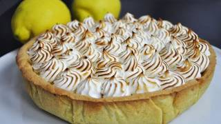 getlinkyoutube.com-Recette facile de la tarte au citron meringuée (US subtitles - lemon pie)