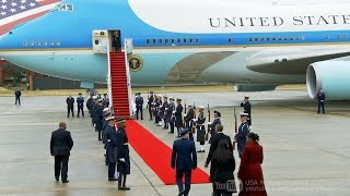 getlinkyoutube.com-【さよならオバマ】大統領専用機でワシントンを離れるオバマ前大統領 2017/1/20