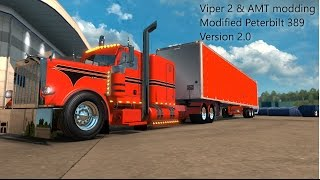 getlinkyoutube.com-ETS2 | Viper2 and AMT modding Modified Peterbilt 389 v2.0 | Modification Overview |