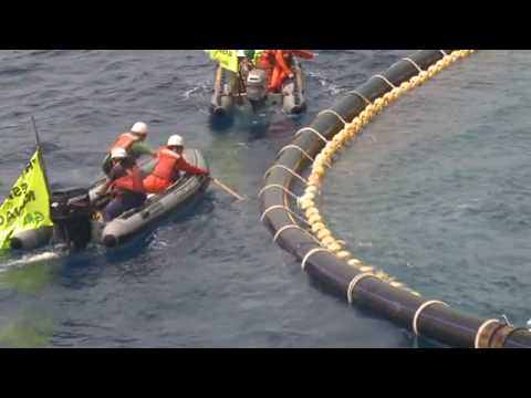 Greenpeace action on tuna cages JUNE 13TH