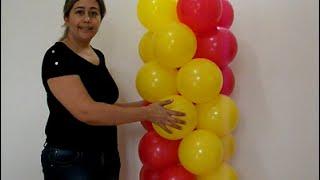 getlinkyoutube.com-(técnica ) como fazer arco de balões espiral 2 cores (espiral rápido)