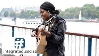 "getlinkyoutube.com-Street performer New Song ""Write Me a Letter"" Sherika Sherard Music live street performers"