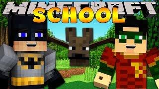 getlinkyoutube.com-Minecraft School : A VISIT FROM BATMAN & ROBIN!
