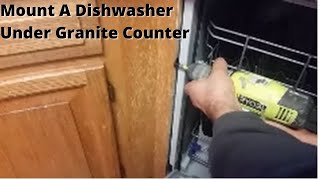 getlinkyoutube.com-How To Mount A Dishwasher Under Granite Counter-Top .
