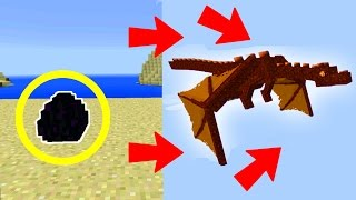 getlinkyoutube.com-How To HATCH the RED DRAGON on Minecraft Pocket Edition!!