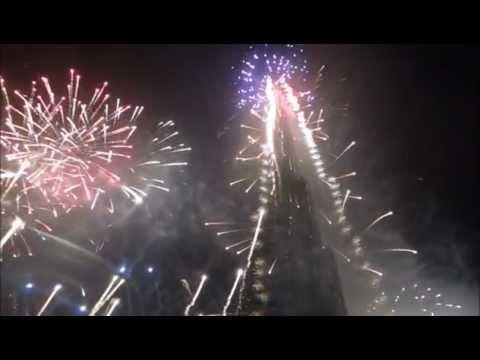 Burj Khalifa Dubai New Year 2012 Countdown & Fireworks