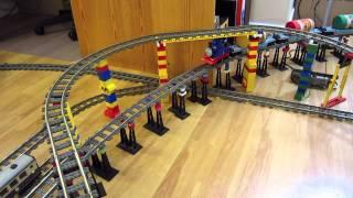 getlinkyoutube.com-LEGO Thomas the Tank Engine train delivers Kraft peanut butter!