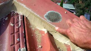 How to prepare for a terracotta roof re-point.
