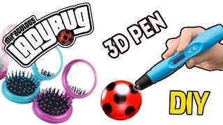getlinkyoutube.com-3Д Ручка  Леди Баг - зеркальце-телефон / 3d pen Miraculous LadyBug