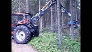 getlinkyoutube.com-Valmet 755 med Cranab kran och keto aggregat