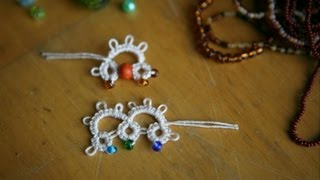 Needle Tatting - #2 Adding Beads (b): method one by RustiKate