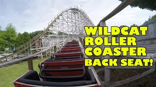 Wildcat Roller Coaster Back Seat POV Lake Compounce Amusement Park