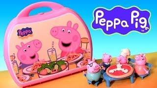 Peppa Pig Pizzeria Playset Pizza Shop Carry Case PlayDoh Maletín Pizzería Cerdita Peppa