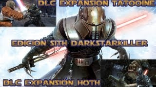 Star Wars El Poder De La Fuerza Edicion Sith DLC Tatooine + DLC Hoth   Starkiller vs Luke Skywalker
