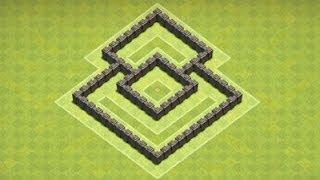 getlinkyoutube.com-Clash of Clans - TH4 Defense / Hybrid Base
