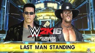 getlinkyoutube.com-WWE 2K16 - Arnold Schwarzenegger Vs. The Undertaker (Last Man Standing)