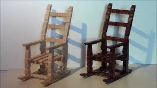 getlinkyoutube.com-tutorial para hacer una mecedora con pinzas de madera / make a rocking chair with wooden pegs