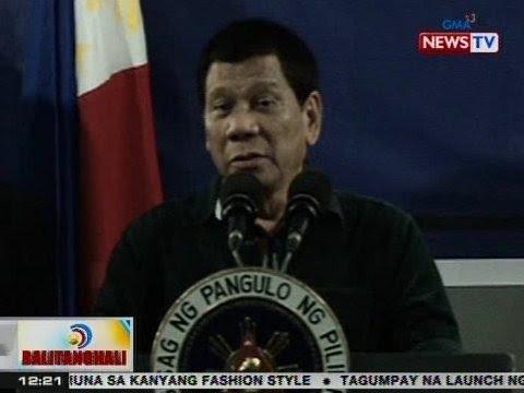 BT: Pres. Duterte, handa raw ibigay anumang kailanganin ng mga sundalong nakikipaglaban sa Marawi