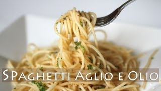 getlinkyoutube.com-3-Ingredient Spaghetti Aglio E Olio Recipe 마늘 스파게티 만들기 알리올리오 Vegetarian Garlic Pasta