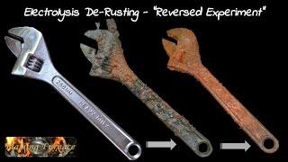 "getlinkyoutube.com-Electrolysis De Rusting  - ""Reversed Experiment"""
